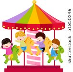 Carousel And Children
