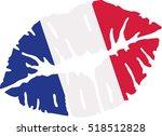 france flag kiss | Shutterstock .eps vector #518512828