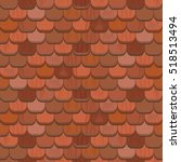 Seamless Red Clay Roof Tiles...