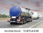 container on the big highway.... | Shutterstock . vector #518516338