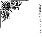 black abstract corner...   Shutterstock .eps vector #518520460
