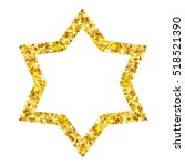Star Form With Gold Glitter...