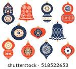 christmas retro ornaments for...   Shutterstock .eps vector #518522653