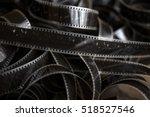 old film strip on the floor | Shutterstock . vector #518527546