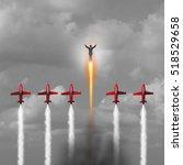 great outstanding businessman... | Shutterstock . vector #518529658