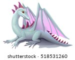 white winged dragon isolated  | Shutterstock .eps vector #518531260