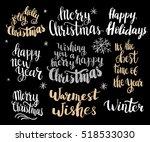 set of winter hand drawn... | Shutterstock .eps vector #518533030