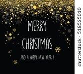 elegant christmas background... | Shutterstock .eps vector #518535010