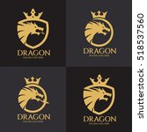 dragon logo design template ... | Shutterstock .eps vector #518537560
