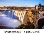niagara falls in ontario canada ... | Shutterstock . vector #518539246