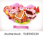 sweet shop  pink. confectionery ... | Shutterstock .eps vector #518540134