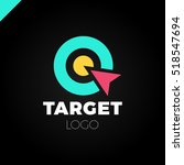 target hit two circle with... | Shutterstock .eps vector #518547694