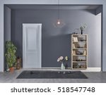modern gray walls  new... | Shutterstock . vector #518547748