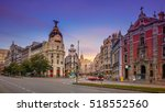 madrid. panoramic cityscape...   Shutterstock . vector #518552560