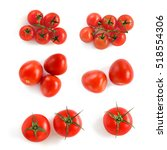 tomatoes on a white background. ... | Shutterstock . vector #518554306