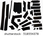 collection of black adhesive... | Shutterstock . vector #518554378