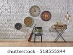 world time interior concept ... | Shutterstock . vector #518555344