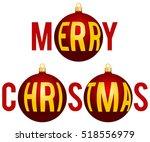 christmas illustration created... | Shutterstock .eps vector #518556979