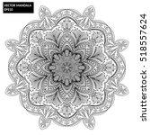 mandala  vector mandala  floral ...   Shutterstock .eps vector #518557624