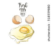 egg a cracked egg with an egg... | Shutterstock .eps vector #518559880