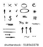 set of hand drawn vector... | Shutterstock .eps vector #518563378