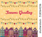 postcard decorated with hand... | Shutterstock .eps vector #518564236