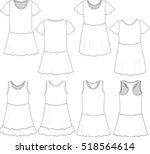 vector illustration of girl's... | Shutterstock .eps vector #518564614