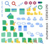 vector icons collection for... | Shutterstock .eps vector #518565190