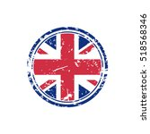 great britain grunge rubber... | Shutterstock .eps vector #518568346