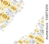 gold and silver paper... | Shutterstock .eps vector #518573254