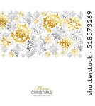 gold and silver paper... | Shutterstock .eps vector #518573269