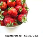 ripe strawberries on the saucer ... | Shutterstock . vector #51857953