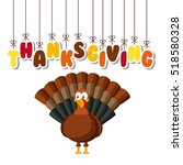 happy thanksgiving card with... | Shutterstock .eps vector #518580328