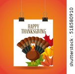 happy thanksgiving card with... | Shutterstock .eps vector #518580910