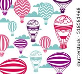 air balloon and sky background. ... | Shutterstock .eps vector #518581468
