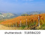 view on vineyards and small... | Shutterstock . vector #518586220