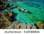 pretty woman in bikini...   Shutterstock . vector #518588806