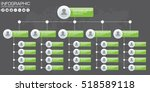 corporate organization chart... | Shutterstock .eps vector #518589118