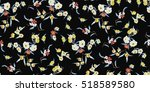 trendy seamless floral pattern... | Shutterstock .eps vector #518589580