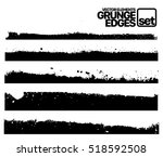 set of grunge ink stroke lines... | Shutterstock .eps vector #518592508