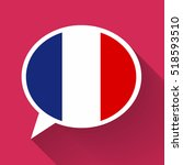 white speech bubble with france ... | Shutterstock .eps vector #518593510