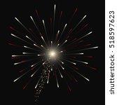 festive golden firework salute... | Shutterstock .eps vector #518597623