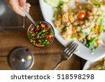 spicy food. red and green hot... | Shutterstock . vector #518598298