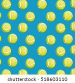 balls tennis seamless pattern... | Shutterstock .eps vector #518603110