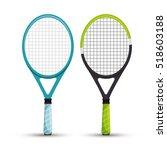 two racket tennis sport graphic | Shutterstock .eps vector #518603188