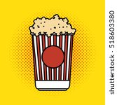 pop corn bucket pop art design | Shutterstock .eps vector #518603380