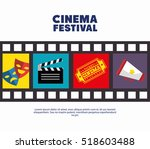 poster cinema festival strip... | Shutterstock .eps vector #518603488