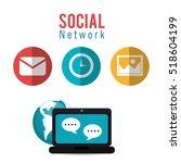 social network computer... | Shutterstock .eps vector #518604199