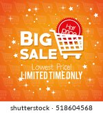 big sale limited time only... | Shutterstock .eps vector #518604568