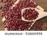 Red Kidney Beans In Wooden...